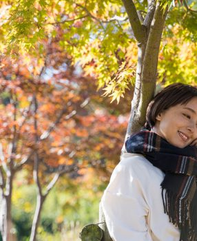 うろこの空に吹く風は秋色/大阪城公園ポートレート