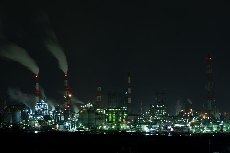 工場夜景の定番スポット、岡山県水島に行ってきた