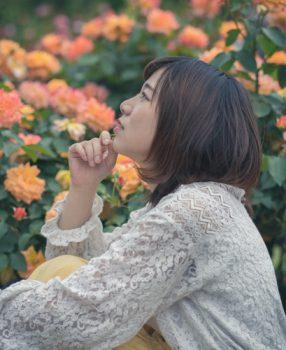 まぶしい前を見つめる・あなたを・もっと・知りたくて/京都植物園ポートレート