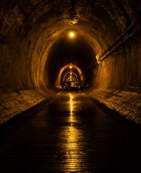 神戸の地下にある土木遺構、幻想的な地下トンネル湊川隧道に行ってきた